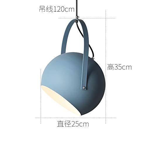 Taiwan Studie Esszimmer Beleuchtung großen dunkelblauen Durchmesser 25cm mit 7 Watt LED-Zweifarbenlampe