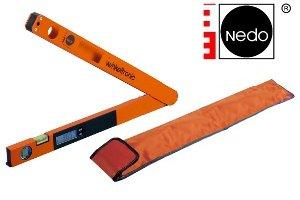 Nedo Winkeltronic 450 mm - 45 cm - Digitaler Profi Winkelmesser Preis - im Set mit praktischer Schutzhülle