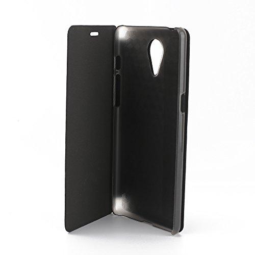 Elephone P8 Smartphone Mit Hard Plastik Etui Pu Leder Kunstleder Flip Cover Tasche Hülle Case Handytasche Handyhülle Schutzhülle Etui Halter Halterung Handyhalter (Smartphone Leder Etui)