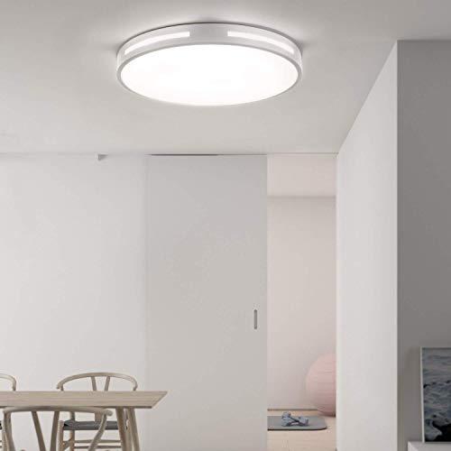 """Avior Home 24-36W Dimmbare LED Deckenleuchte Deckenlampe""""Modern"""", für Wohnzimmer, Schlafzimmer, Küche, inkl. Fernbedienung (36W Weiß)"""