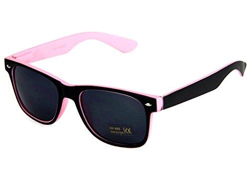 Nerdbrille Rosa Schwarz Geek Sonnenbrille Wayfarer Brille Hornbrille Pantobrille Streberbrille Bluesbrother