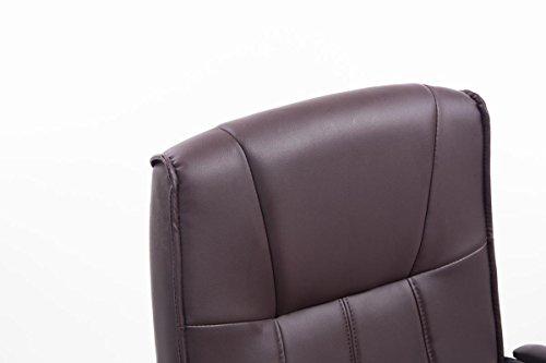 CLP Besucher Freischwinger-Stuhl BASEL V2 mit Armlehne – gepolstert braun - 5