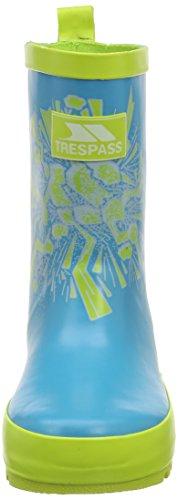 Trespass Gervais Welly, Bottes Garçon Bleu (peacock Print)