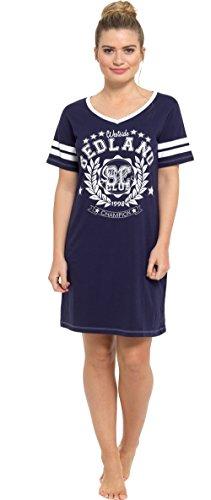 Damen Baumwolle Kurzärmlig Nachthemd Nachthemd marineblau bedland
