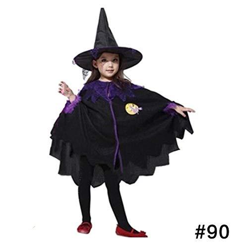 (oplon Kinder Halloween Kostüme Hexe Umhang Cape Fledermaus Flügel Kinder Kleidung Outfit Cosplay Party Make up 2-15Jahre)
