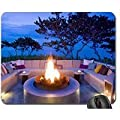 Firepit At Dusk - French Polynesia Mouse Pad Mousepad Sunsets Mouse Pad from oeebd