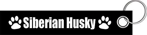 Siberian Husky Hund T-shirt (Siberian Husky Hund Hunde Hunderasse Pfote Schlüsselanhänger Schlüsselband Keyholder Lanyard)