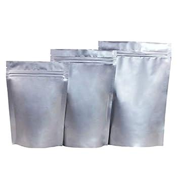 XiBag 100PCS tiennent les sacs de stockage résistants à l'humidité de sacs en aluminium de paquet en aluminium