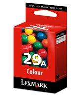 Lexmark 29A Cyan, Magenta, Yellow Ink Cartridge–Ink Cartridges (Cyan, Magenta, Yellow, X2500, X2510, X2530, X2550, X5070, X5075, X5490, X5495Z845, Z1320, Z1300, Z1310, Inkjet, Box, 70mm, 38mm)