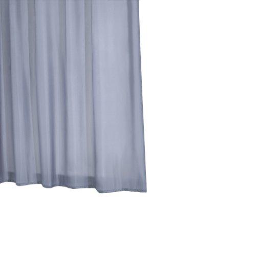 Ridder 45310-350 Duschvorhang Textil ca. 180 x 200 cm, Madison grau inklusive Ringe