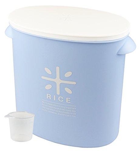 Perle en métal Riz Bin 5 kg avec doseur Bleu pâle Stock comme un sac de riz (japan import)