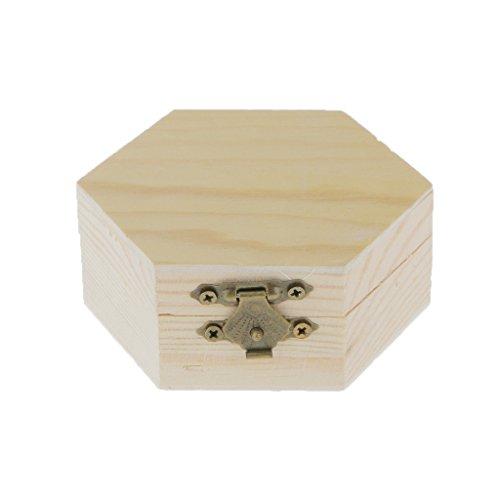 Non-brand Unvollendetes Sechseckiges Einfaches Hölzernes Schmucksache Kasten Kasten
