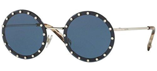 Valentino Damen 0VA2010B 300680 52 Sonnenbrille, Silber (Silver/Darkbluee),