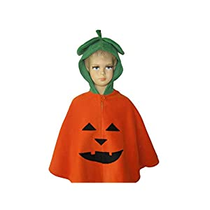 fasching karneval halloween kostüm cape für kleinkinder kürbis