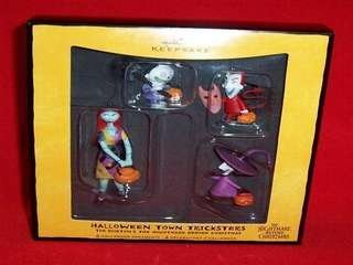 QFO6094 Halloween Town Tricksters Tim Burton's The Nightmare Before Christmas 2008 Hallmark Halloween ornament 4 pc by Halloween Town Tricksters Tim Burton's The Nightmare Before Christmas