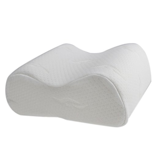 Teckpeak Memory Foam Leg Pillow Knee Suppor Pillow Cusion for side sleeping support and Bed Leg Rest – White