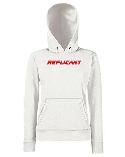 T-Shirtshock - Sweats a capuche Femme OLDENG00216 replicant Blanc