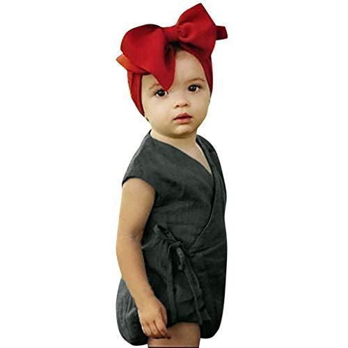 Anzug Segler Kostüm - Elsta Sommer Baby Jungs Mädchen Ärmellos Solide Strampler Overalls Pyjamas Overall Baumwolle Kleidung Tops Nachtwäsche Anzug Kleidung Sets Mit Einfarbig Bandage