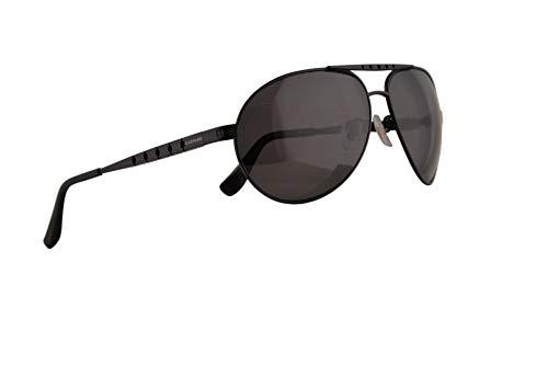 Chopard SCHB01M Sonnenbrille Matt Schwarz Mit Polarisierten Grauen Gläsern 64mm 531P SCH B01M SCHB 01M