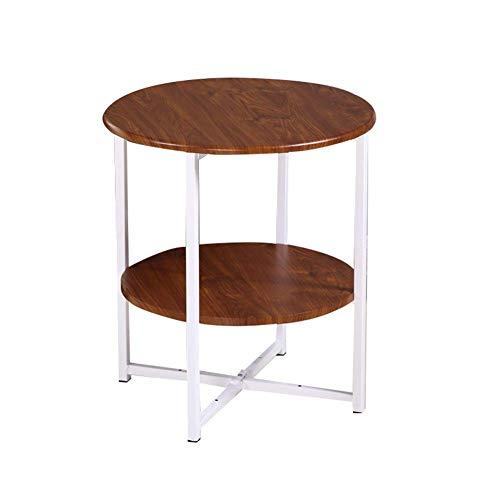 Beistelltische, Tische Hochglanz-Couchtisch-Set Satztische Couchtisch aus Holz Beistelltische für das Wohnzimmer, multifunktionaler Beistelltisch (Farbe: Braun + Weiß, Größe: 40 * 40 * 47 cm)