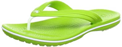 Crocs Unisex Adult's Crocband Flip Flops - Green (Volt Green/White), 10 UK (Men 11 US) (45-46 EU)