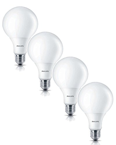 4er-Pack Philips LED Globe 9,5W ersetzen 60W Fassung E27 8718291717041