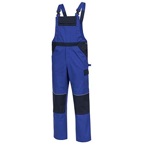 Nitras Motion TEX Light Latzhose - Arbeitshosen für Herren & Damen - Arbeitskleidung Bundhose Schutzhose Arbeitshose -Blau Gr. 48