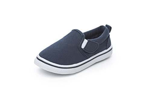 Chatterbox Boys Pumps Canvas Boat Shoes Espadrilles Navy (9 UK CHILD, Navy)