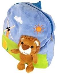 Foxxeo 11010-STD | Deluxe Kinderrucksack Löwen Rucksack Plüsch braun Löwenrucksack 30 cm brauner Löwe Kind für... preisvergleich bei kinderzimmerdekopreise.eu