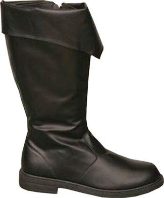 Mens Black Boots Medium Fancy Dress