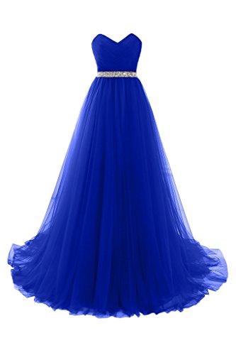Abschlussballkleider lang blau