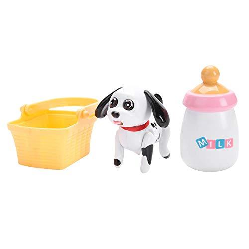 Garosa Baby Haustier Saugen Milch Spielzeug Katze & Hund Induktion saugen Flasche frühe pädagogische Entwicklung Kopf schwankt Zunge bewegt Fütterung Spielzeug für Kinder (Dalmatian)