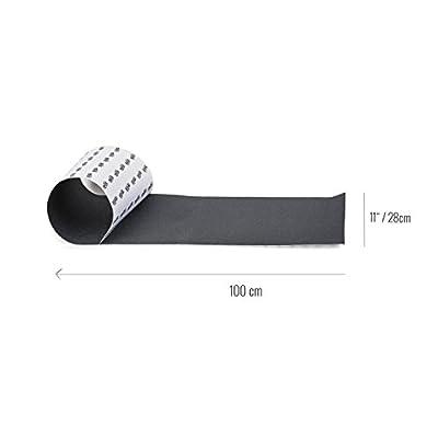 """Rellik Longboard Griptape breites Grip 11"""" ( 28x100 cm ) schwarz"""