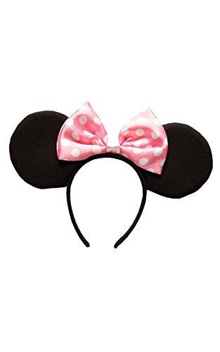 Rubie's Offizielle Minnie Mouse-Ohren mit Haarreif, Kinder-Kostüm, - Minnie Standard Kostüm