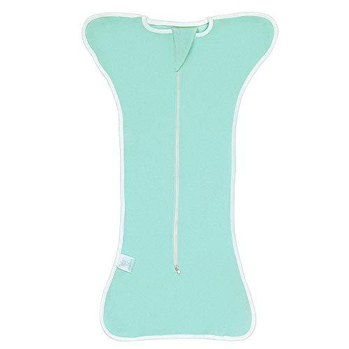 huici Unisex Baby Baumwolle Sleeper Kleider Tragbar Decken Schlafsack Sack, Grün, Large - Grün Sleeper