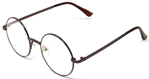 43b7d17feed Fusine™ Eye Wear Specs Full Rim Metal Round Unisex Spectacles gandhi ...