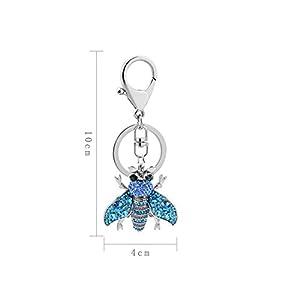 HFJ&YIE&H Frauen Strass Kleine Biene Modell Schlüsselanhänger Handtasche Anhänger Schlüsselanhänger Charme