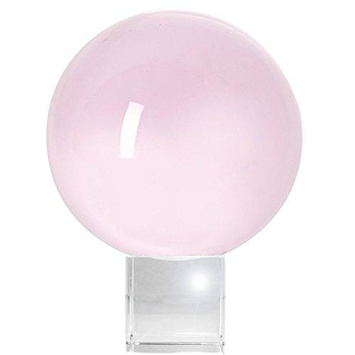 amlong Kristall Bergkristall Meditation Ball mit gratis Crystal Ständer, Rose (Kristallkugeln Wahrsagen)