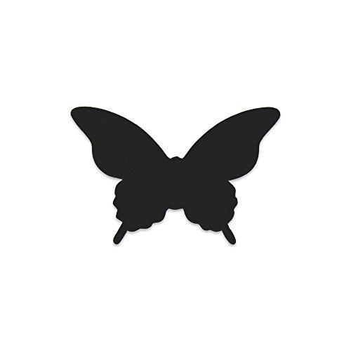 Elfenstall 3D Papier Schmetterling Aufkleber Wandsticker Wandtattoo Wanddeko für Wohnung, Raumdekoration, Hochzeit oder Party als Dekoration in der Farbe Schwarz