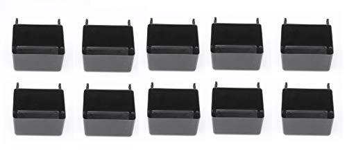 JSP Manufacturing Kleine Kunststoff-Klemmtafel-Aufbewahrungsboxen - Multi-Pack - Rot, Gelb oder Schwarz schwarz