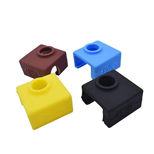 3D-Drucker MK8 Silikonsocken Blockheizung Silikon-Isolierung Abdeckung für Replicator Anet A6 A8 i3 MK7 MK8 MK9, 1 Pack Random, 1