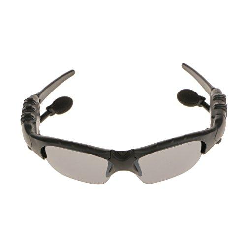 Drahtlose Bluetooth-Sonnenbrille Mit Freisprecheinrichtung Bluetooth 4.1 Headset mit Musik MP3 Handsfree Phone - Grau / Schwarz, 175 x 152 x 44mm