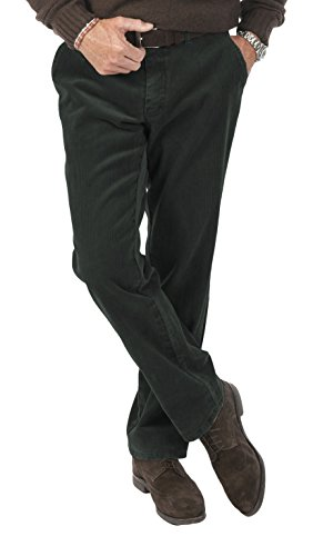 Club of Comfort - Herren Stretchcord Hose in verschiedenen Farben, Derry (5810), Größe:26, Farbe:Oliv (70) (Front Flat Hose Bein,)