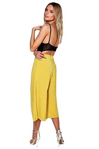 Noir Femmes Boutique Zahara Woven Plissé Tailored Culottes Noir