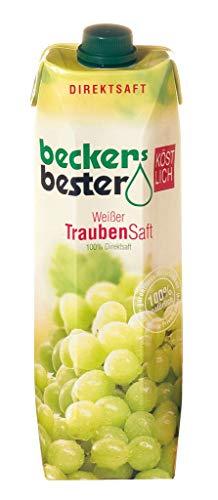Beckers Bester Weißer Traubensaft 1l - Traubensaft 1 Liter