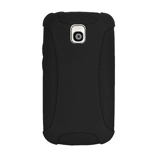 Amzer Silikon-Schutzhülle für LG Optimus One P500, schwarz