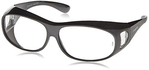 7429c1d02358 Crossfire 3114 OG3 Over the Glass Safety Glasses Clear Lens - Shiny Pearl  Gray Frame by