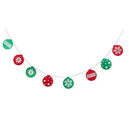 BESTOYARD Frohe Weihnachten Bunting Banner Pull Flag Weihnachten Tür Fenster hängen Dekor für Silvester Urlaub Party