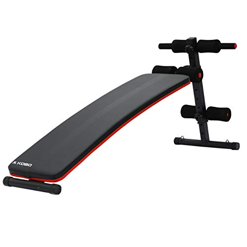 Kobo EB-1010 Steel Abdominal Exercise Sit Up Bench for Home Gym (Imported) (Black/Red)