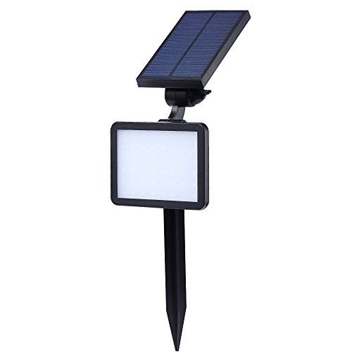 Witmoving Solar Light Outdoor 48pcs LED 360° Rotatable Landscape Garden Spotlight Auto On/Off Security Night Lights for Patio Yard Driveway Pool